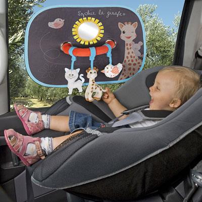 Set de 2 pare-soleil avec arche d'activités sophie la girafe Vulli