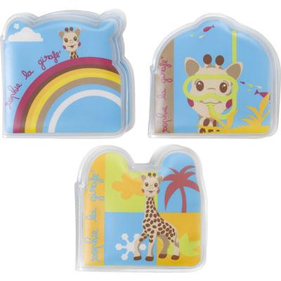 Jouet de bain bébé set de 3 livres sophie la girafe Vulli