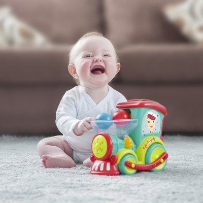 Jouet d'éveil bébé magik pop train sophie la girafe Vulli