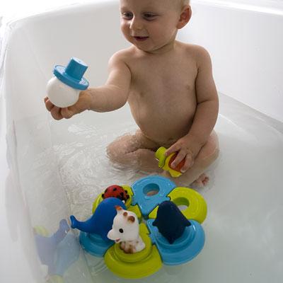 Jouets de bain bébé puzzle sophie la girafe Vulli