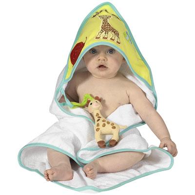 Sortie de bain bébé sophie la girafe Vulli