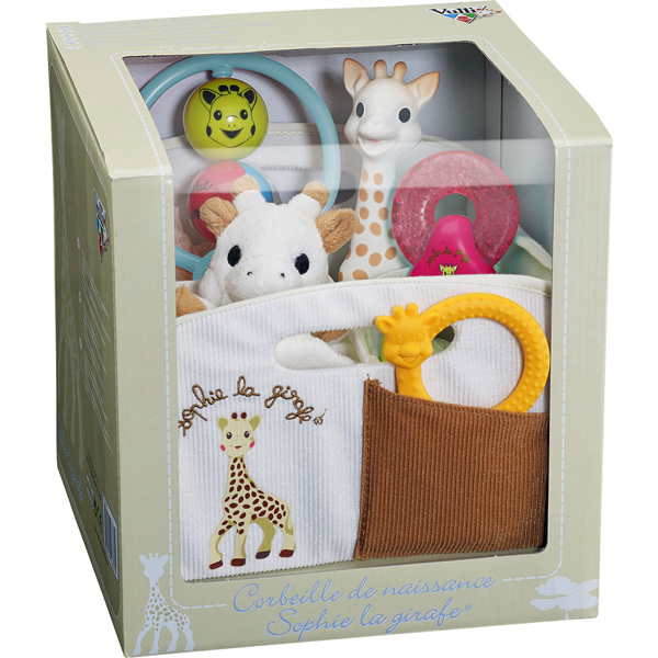 Corbeille de naissance sophie la girafe Vulli