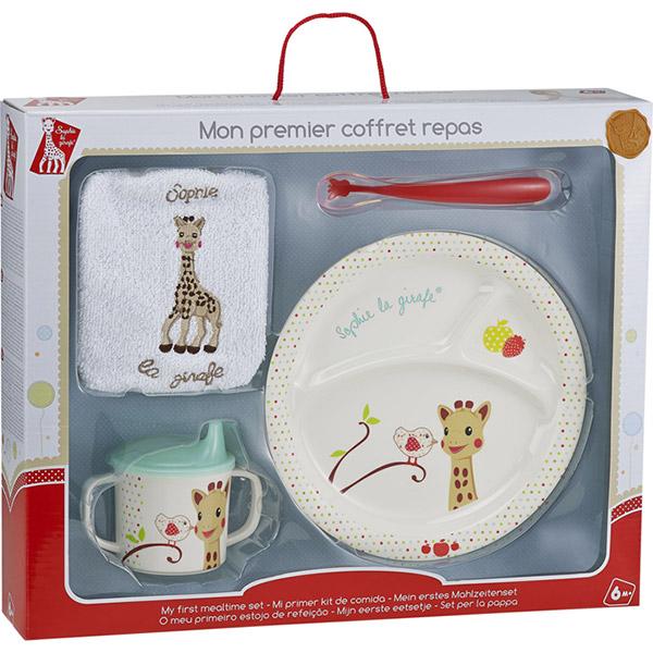 mon premier coffret repas version ballons sophie la girafe de vulli. Black Bedroom Furniture Sets. Home Design Ideas