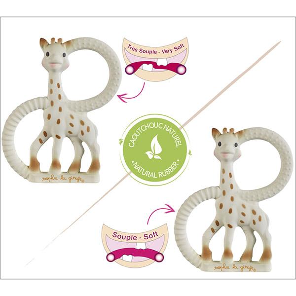 Duo anneaux de dentition so'pure sophie la girafe Vulli