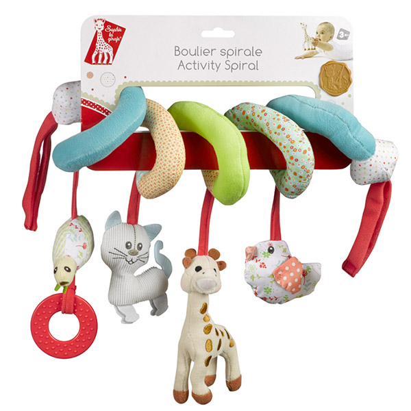Jouets de lit bébé spirale sophie la girafe Vulli
