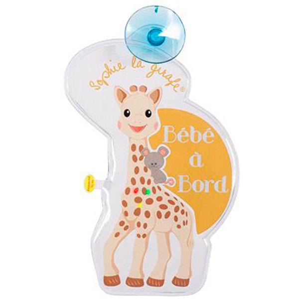 Signalétique flash bébé à bord sophie la girafe Vulli