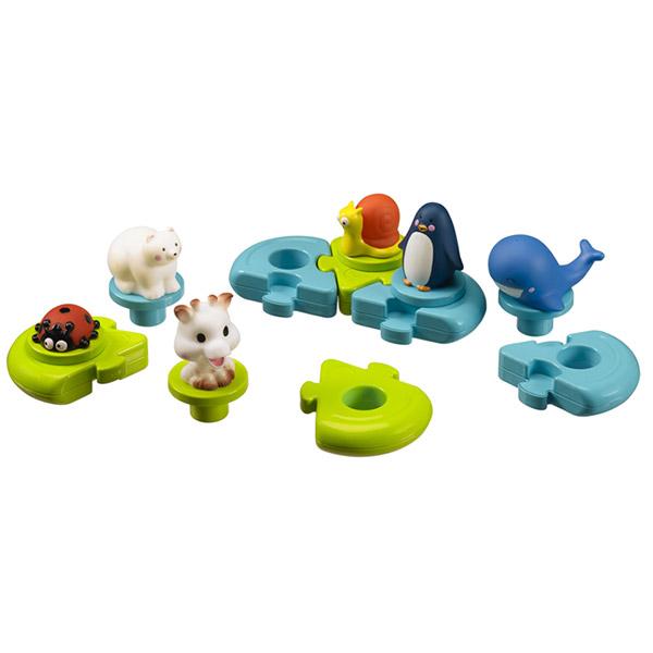 jouets de bain b b puzzle sophie la girafe 10 sur allob b. Black Bedroom Furniture Sets. Home Design Ideas
