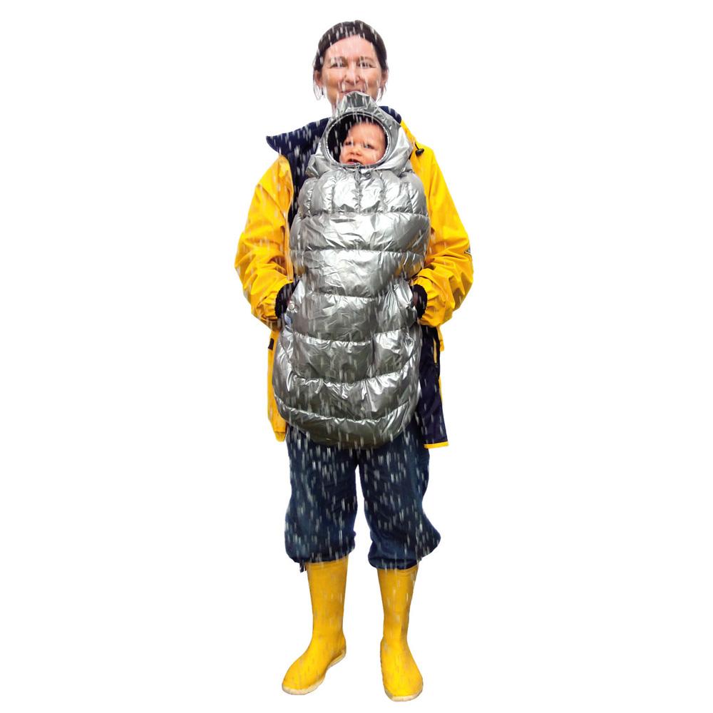 Cape pour porte bébé carryboo gris de B+b