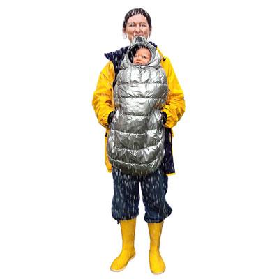 Cape pour porte bébé carryboo gris B+b