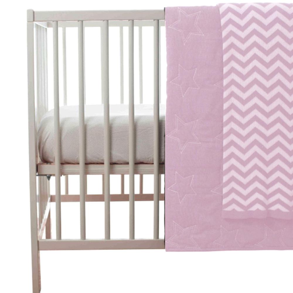 couvre lit b b toile rose de playgro sur allob b. Black Bedroom Furniture Sets. Home Design Ideas