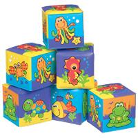 Jouet de bain cubes souples