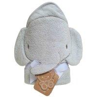 Sortie de bain bébé élephant grise