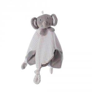Doudou tout doux élephant gris