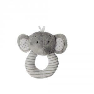 Hochet à grelot élephant gris