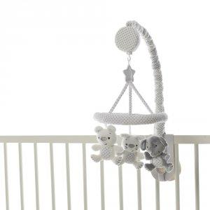 Mobile bébé musical élephant gris