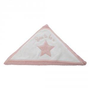 Sortie de bain bébé étoile rose