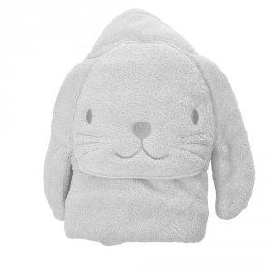 Sortie de bain bébé lapin blanc