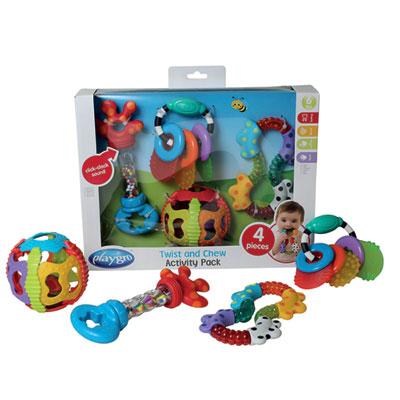 Pack cadeaux hochet et balle d'activités Playgro