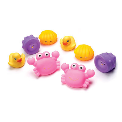 Jouet de bain gicleurs roses avec valisette de transport Playgro