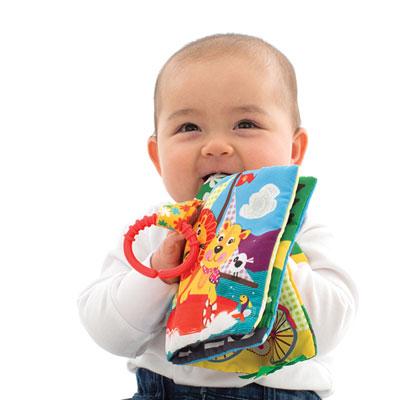 Jouet d'éveil mon premier livre en tissus Playgro