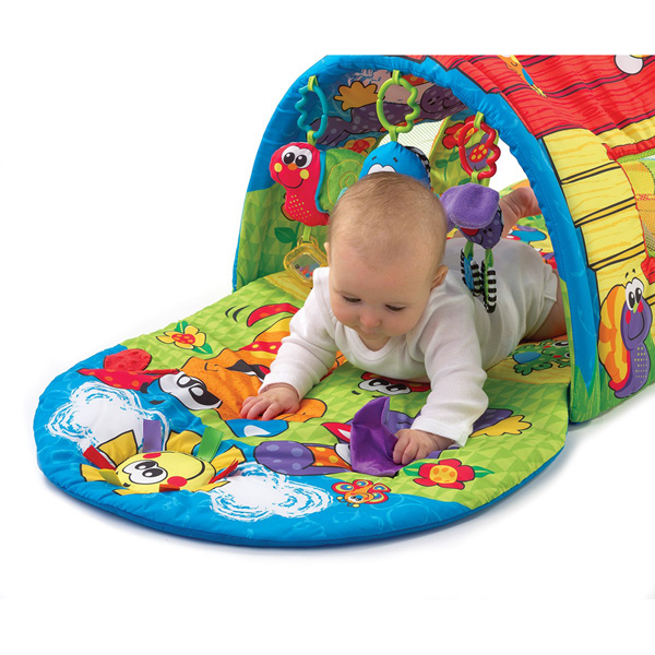 Tapis d'éveil tunnel d'activités Playgro