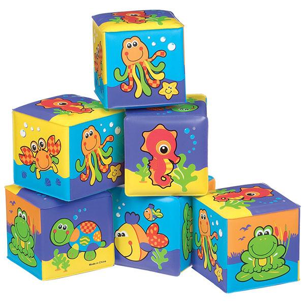 jouet de bain cubes souples de playgro chez naturab b. Black Bedroom Furniture Sets. Home Design Ideas