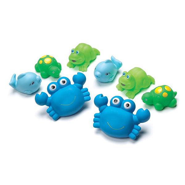 Jouet de bain gicleurs bleus avec valisette de transport Playgro