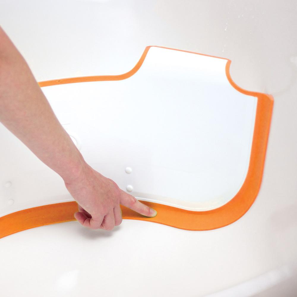 r ducteur de baignoire b b orange de babydam. Black Bedroom Furniture Sets. Home Design Ideas