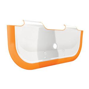 Réducteur de baignoire bébé orange