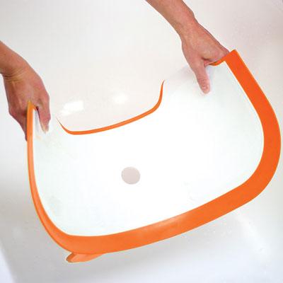 Réducteur de baignoire bébé orange Babydam