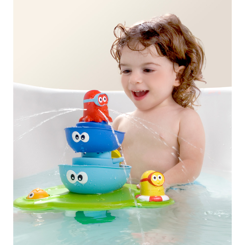 jouets de bain b b la fontaine magique de yookidoo sur allob b. Black Bedroom Furniture Sets. Home Design Ideas