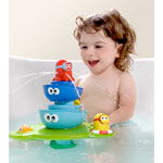 Jouets de bain bébé la fontaine magique