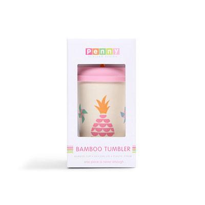 Gobelet avec paille bambou pineapple Penny scallan