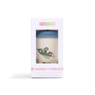 Gobelet avec paille bambou space monkey Penny scallan