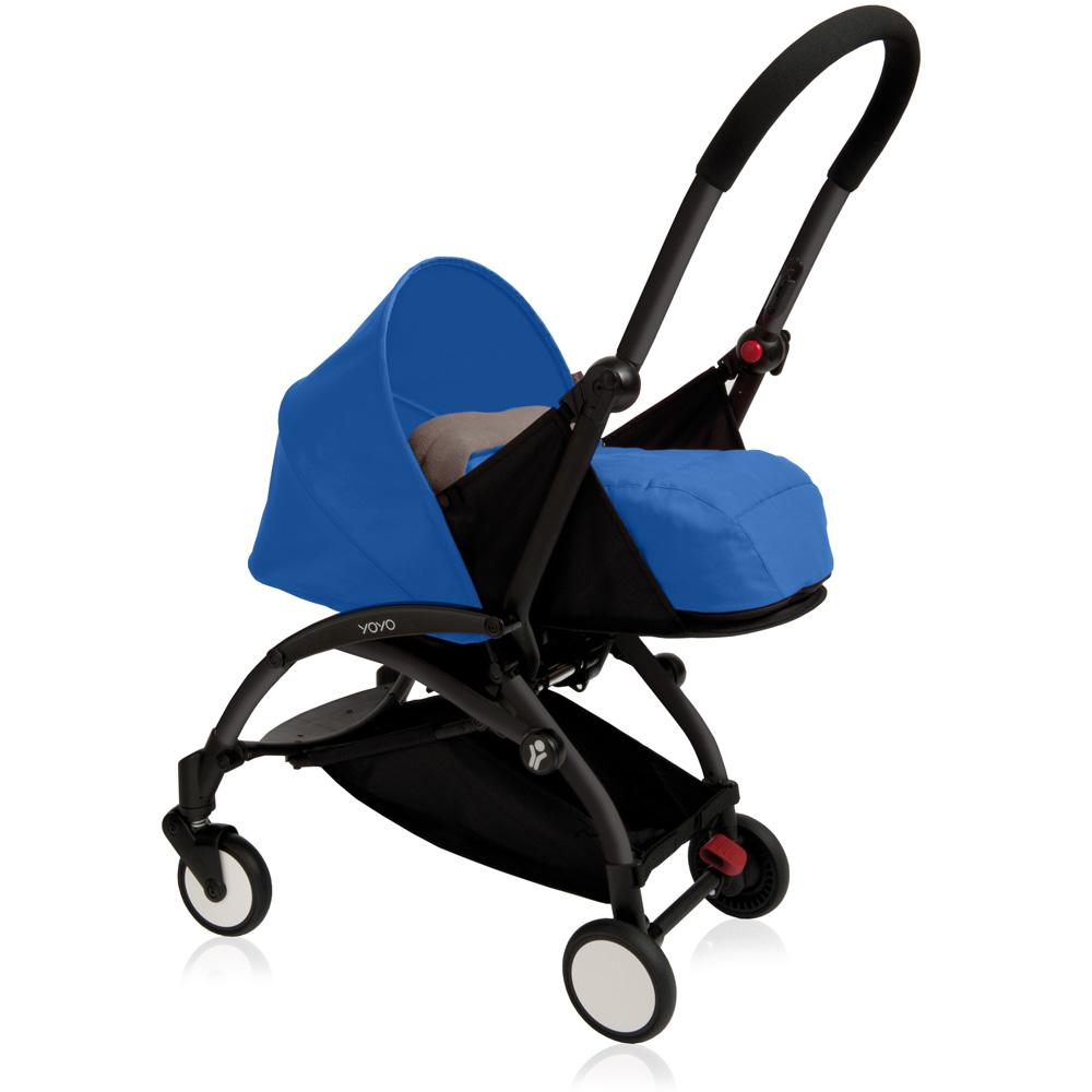 poussette canne yoyo by babyzen 0 mois noire bleue sur. Black Bedroom Furniture Sets. Home Design Ideas