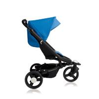 Poussette 3 roues babyzen zen noire/bleue