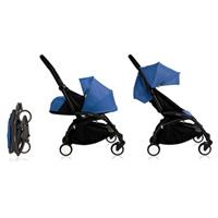 Poussette 4 roues yoyo+ by babyzen complète noire/bleue