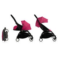 Poussette 4 roues yoyo+ by babyzen complète noire/rose