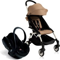 Pack poussette duo yoyo + by babyzen complete izi go noir blanche/taupe