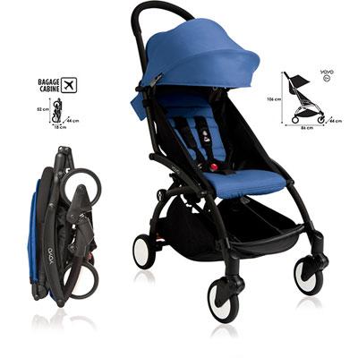 Poussette 4 roues yoyo+ by babyzen complète noire/bleue Babyzen