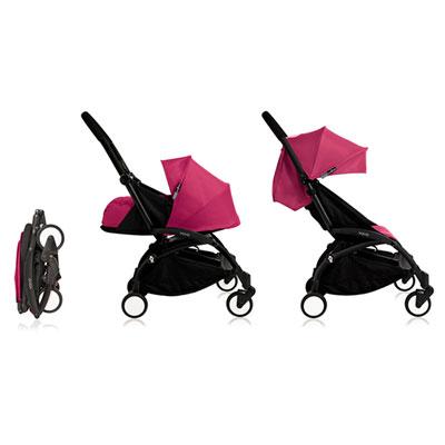 Poussette 4 roues yoyo+ by babyzen complète noire/rose Babyzen