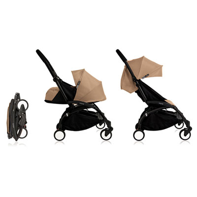Poussette 4 roues yoyo+ by babyzen complète noire/taupe Babyzen