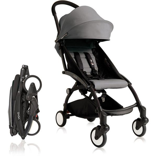 poussette 4 roues yoyo by babyzen 6 mois noire grise sur allob b. Black Bedroom Furniture Sets. Home Design Ideas