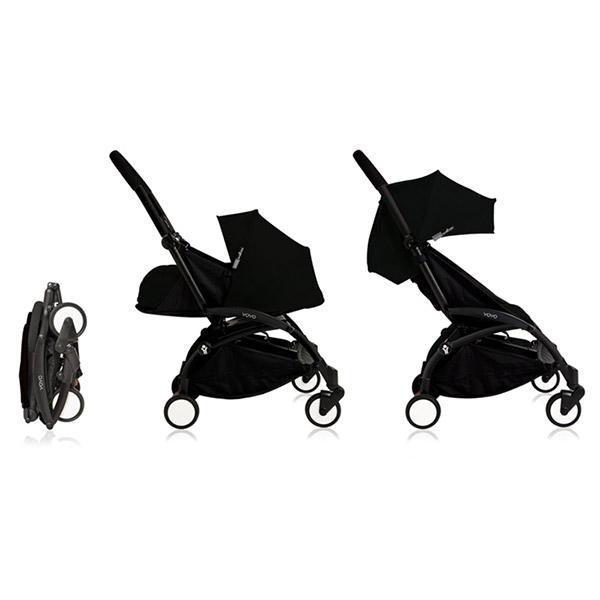 poussette 4 roues yoyo by babyzen compl te noire noire sur allob b. Black Bedroom Furniture Sets. Home Design Ideas