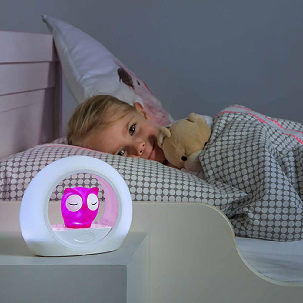 veilleuse b b lou le hibou rose de zazu en vente chez cdm. Black Bedroom Furniture Sets. Home Design Ideas