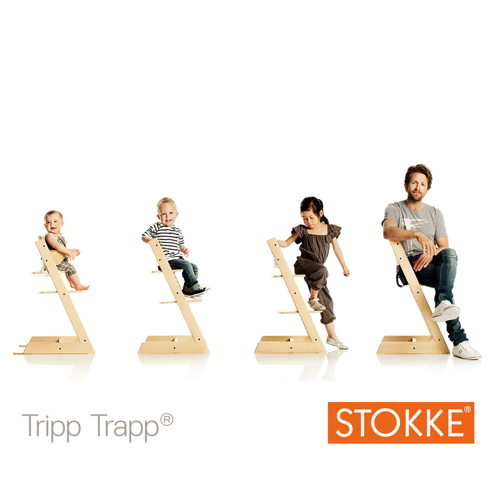 Chaise haute b b volutive tripp trapp naturel de stokke for Chaise haute stokke