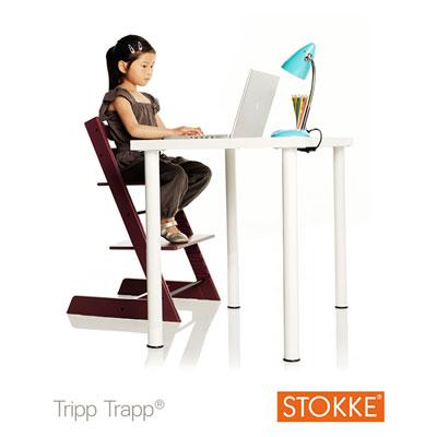 Chaise haute bébé évolutive tripp trapp blanchi Stokke