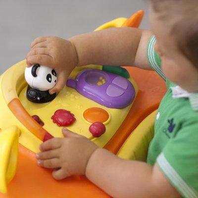 Trotteur bébé 1 2 3 orange Chicco