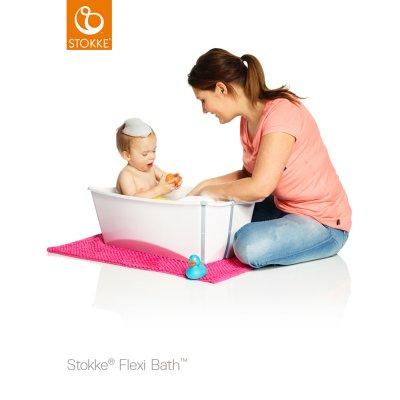 Baignoire bébé flexibath blanc aqua Stokke