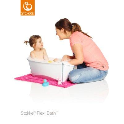 Baignoire bébé flexibath transparent rose Stokke
